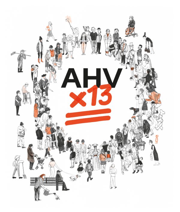 AHV x 13 - Wimmelbild